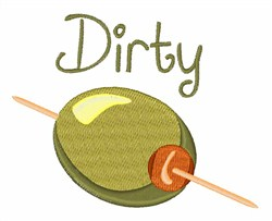 Dirty Olive embroidery design