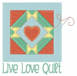 Live Love Quilt embroidery design