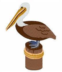 Brown Pelican embroidery design