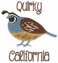 Quirky California embroidery design