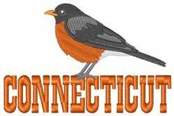Connecticut  Robin embroidery design