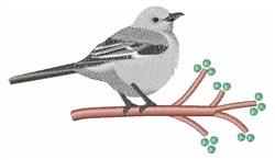 Northern Mockingbird embroidery design