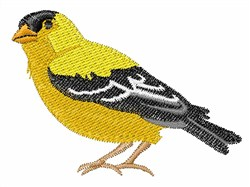 Eastern Goldfinch embroidery design
