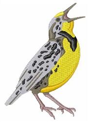 Western Meadowlark embroidery design