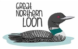 Great Northern Loon embroidery design