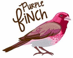 Purple Finch embroidery design