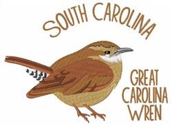 Great Carolina Wren embroidery design