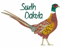 South Dakota Bird embroidery design