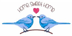 Home Sweet Bluebirds embroidery design