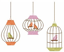 Caged Birds embroidery design
