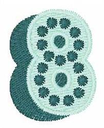 Bingo Dots 8 embroidery design