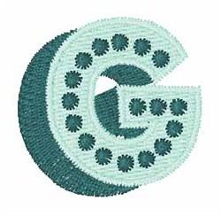 Bingo Dots G embroidery design