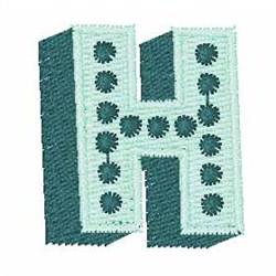 Bingo Dots H embroidery design