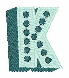 Bingo Dots K embroidery design