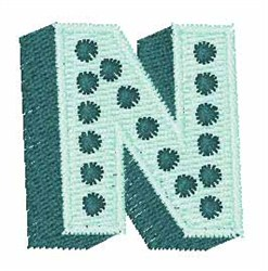 Bingo Dots N embroidery design
