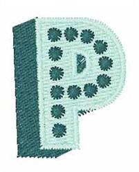 Bingo Dots P embroidery design