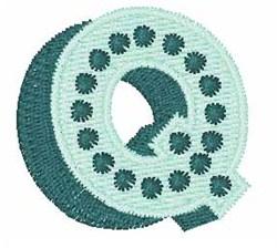 Bingo Dots Q embroidery design