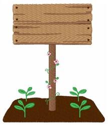 Garden Sign embroidery design