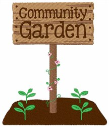 Community Garden embroidery design