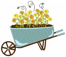 Barrel Of Daisies embroidery design