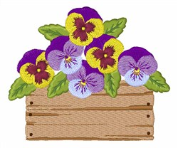Box Of Pansies embroidery design