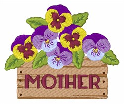Pansies For Mother embroidery design