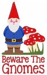 Beware The Gnome embroidery design