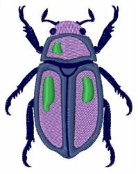 Purple Beetle embroidery design