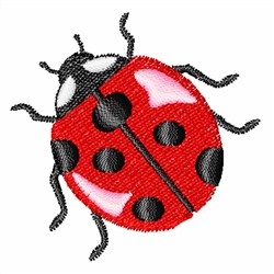 Red Ladybug embroidery design
