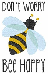 Bee Happy embroidery design