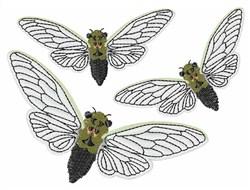 Three Cicadas embroidery design