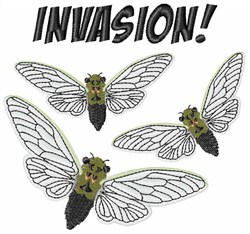 Invasion! embroidery design