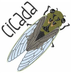 Cicada embroidery design
