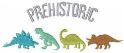 Prehistoric embroidery design