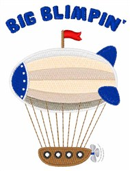 Big Blimpin embroidery design