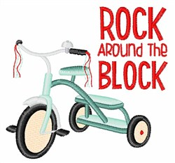 Rock The Block embroidery design