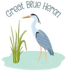 Great Blue Heron embroidery design