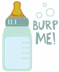 Burp Me embroidery design