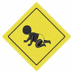 Crawling Baby Sign embroidery design