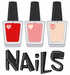Nails embroidery design