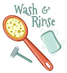 Wash & Rinse embroidery design