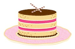 Fancy Cake embroidery design