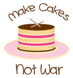 Make Cakes embroidery design