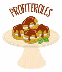 Profiteroles embroidery design