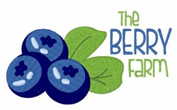 The Berry Farm embroidery design