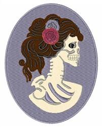 Skeleton Lady embroidery design