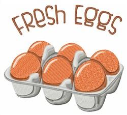 Fresh Eggs embroidery design