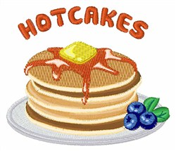 Hotcakes embroidery design
