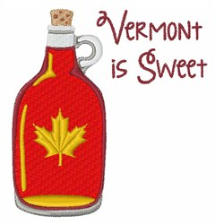 Vermont Is Sweet embroidery design
