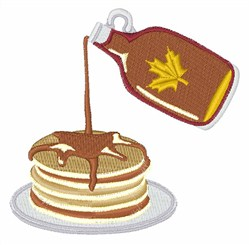 Pancakes & Syrup embroidery design